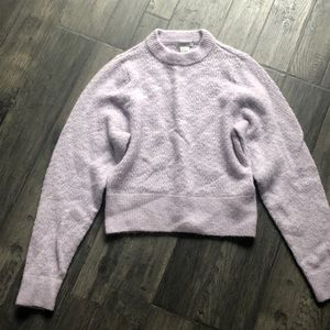 H&M cropped sweater, lilac, xs